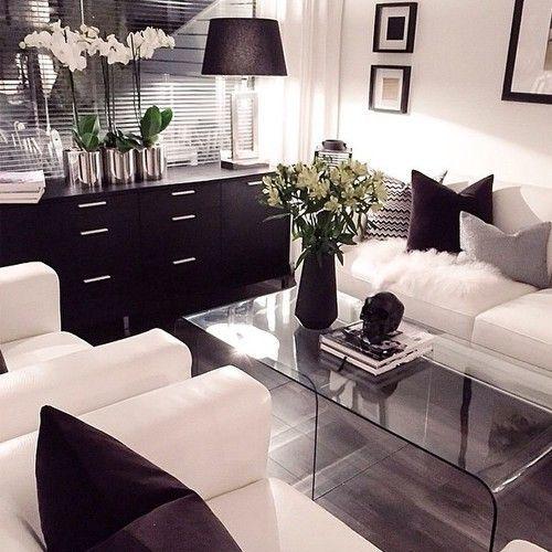 black and white living room glam modern living. modern living room decorwhite ... OJMIPVR