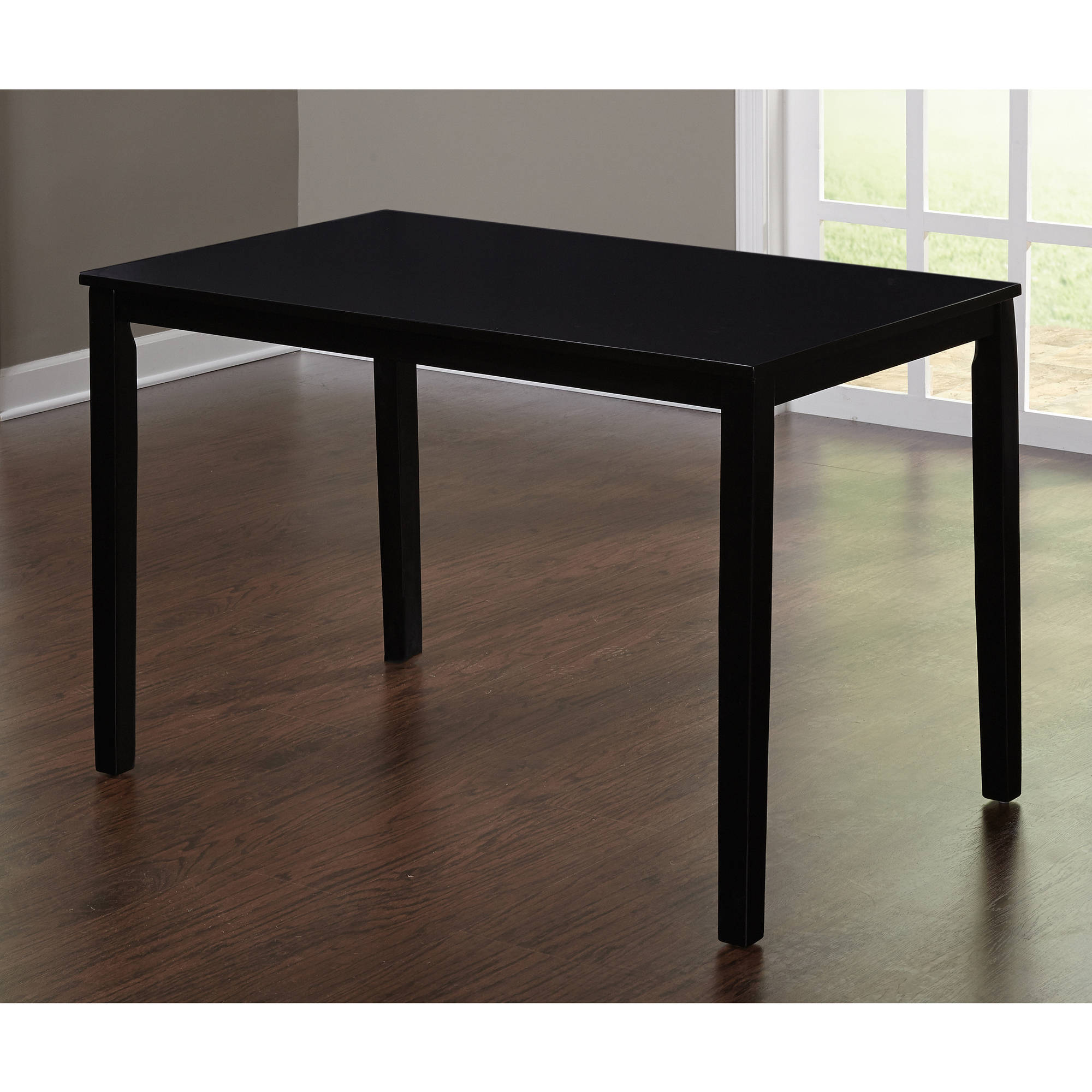 black dining table contemporary dining table, black - walmart.com LFSAROG
