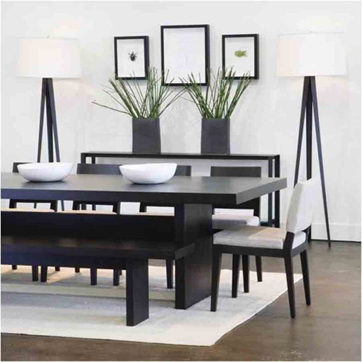 black dining table wonderful modern dining room decorating ideas for small space : minimalist  black ESXYGZC