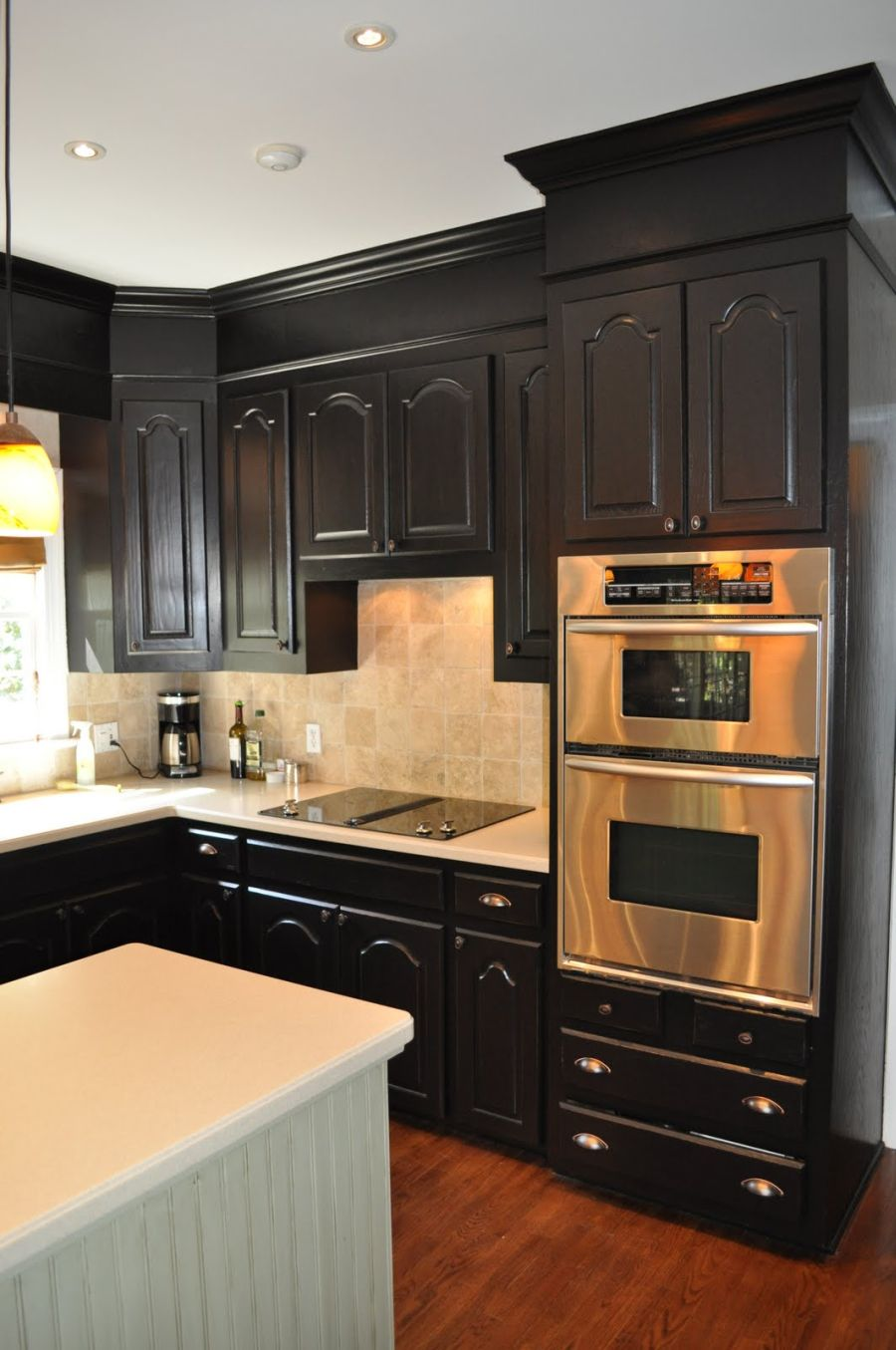 black kitchen cabinets black cabinets with soffits. VDKHFCC