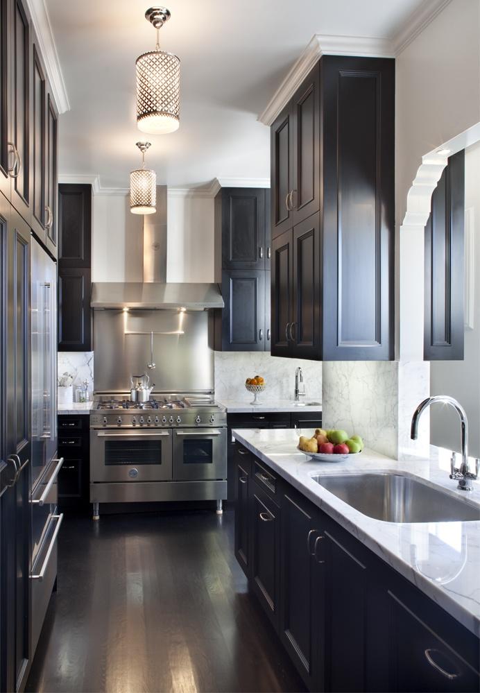 black kitchen cabinets galley kitchen cabinets. ILLGLZT