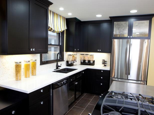 black kitchen cabinets ZDJVROA