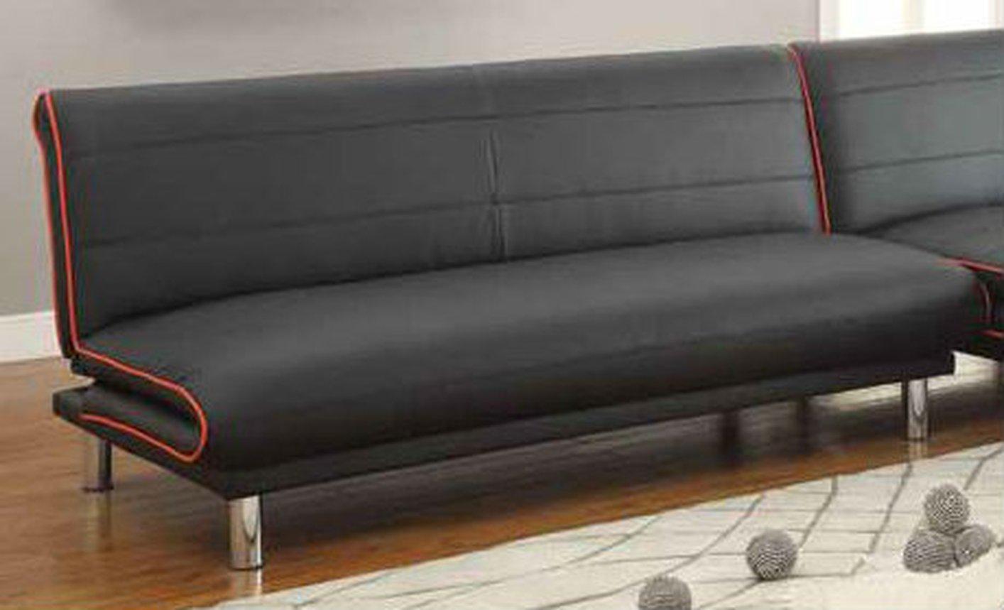 black leather sofa bed WYQUKIG