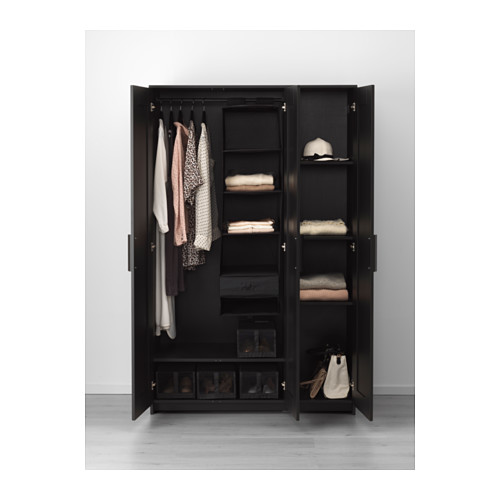 black wardrobe brimnes wardrobe with 3 doors - black - ikea RDSUWNK