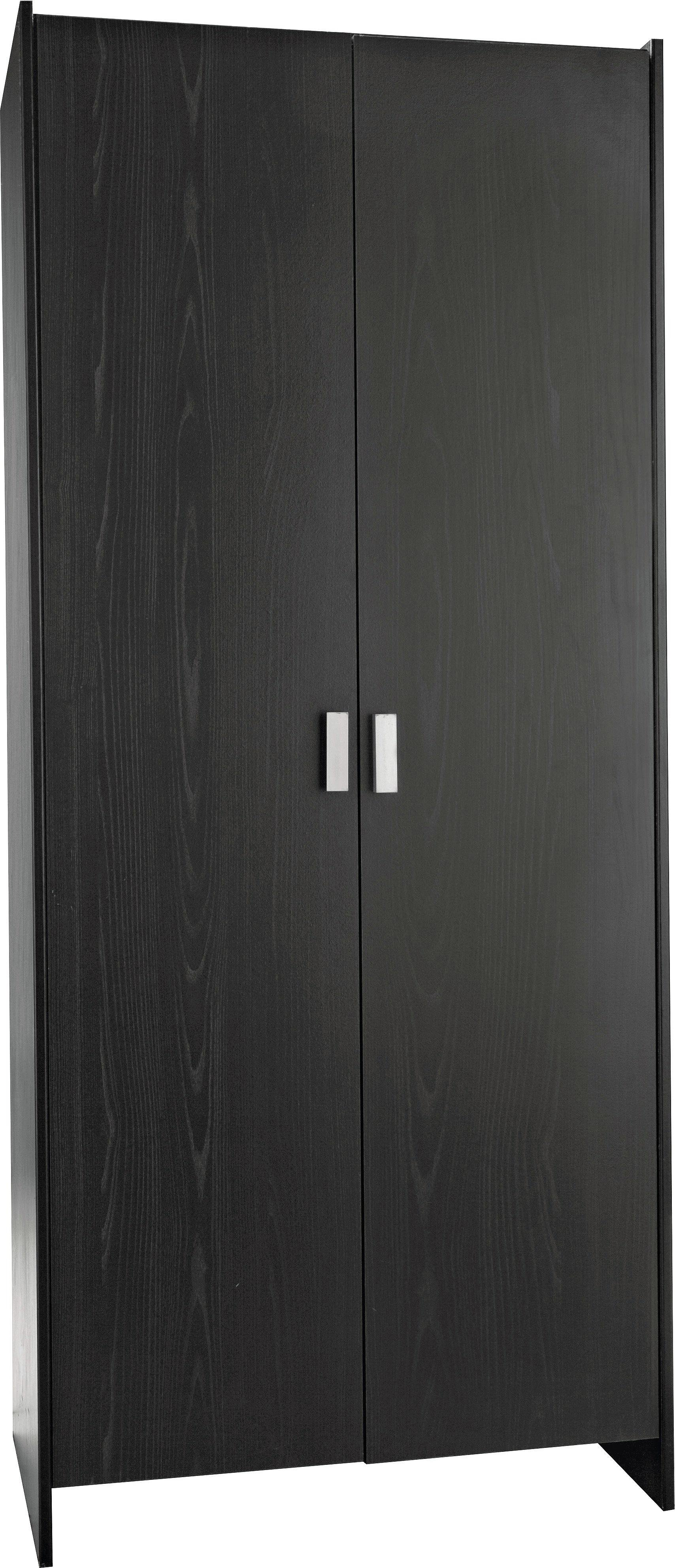 black wardrobe home new capella 2 door wardrobe - black498/9062 HQWMLIQ