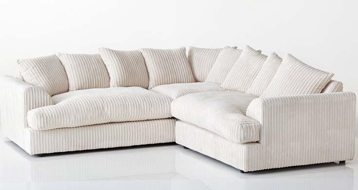 blake cream fabric corner sofa suite WDBEOVU