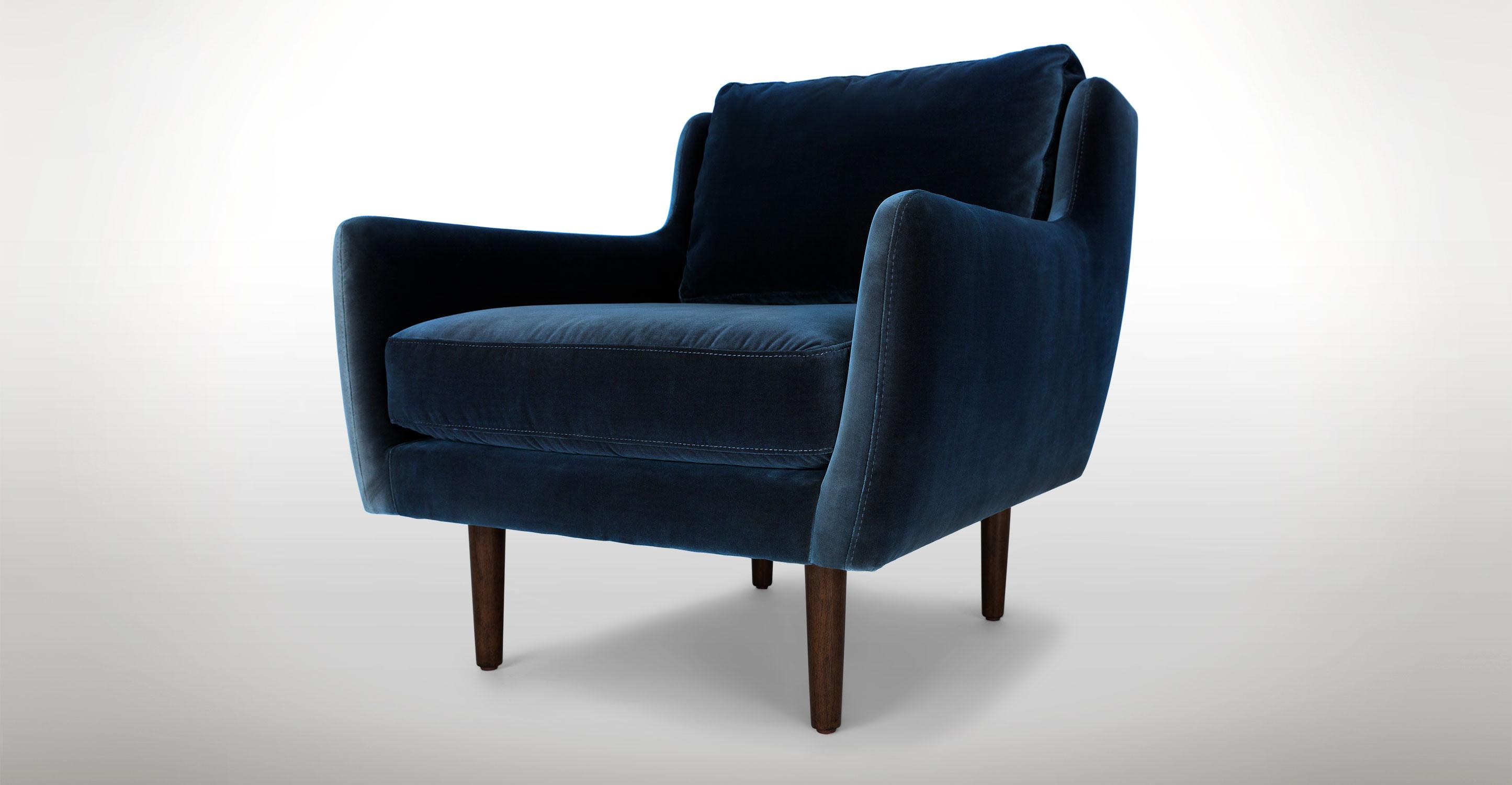 blue chair blue velvet modern contemporary chair | matrix contemporary furniture BMCLDUE