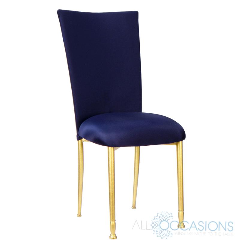blue chair chameleon chair gold fanfare navy blue ... EGIFYFO