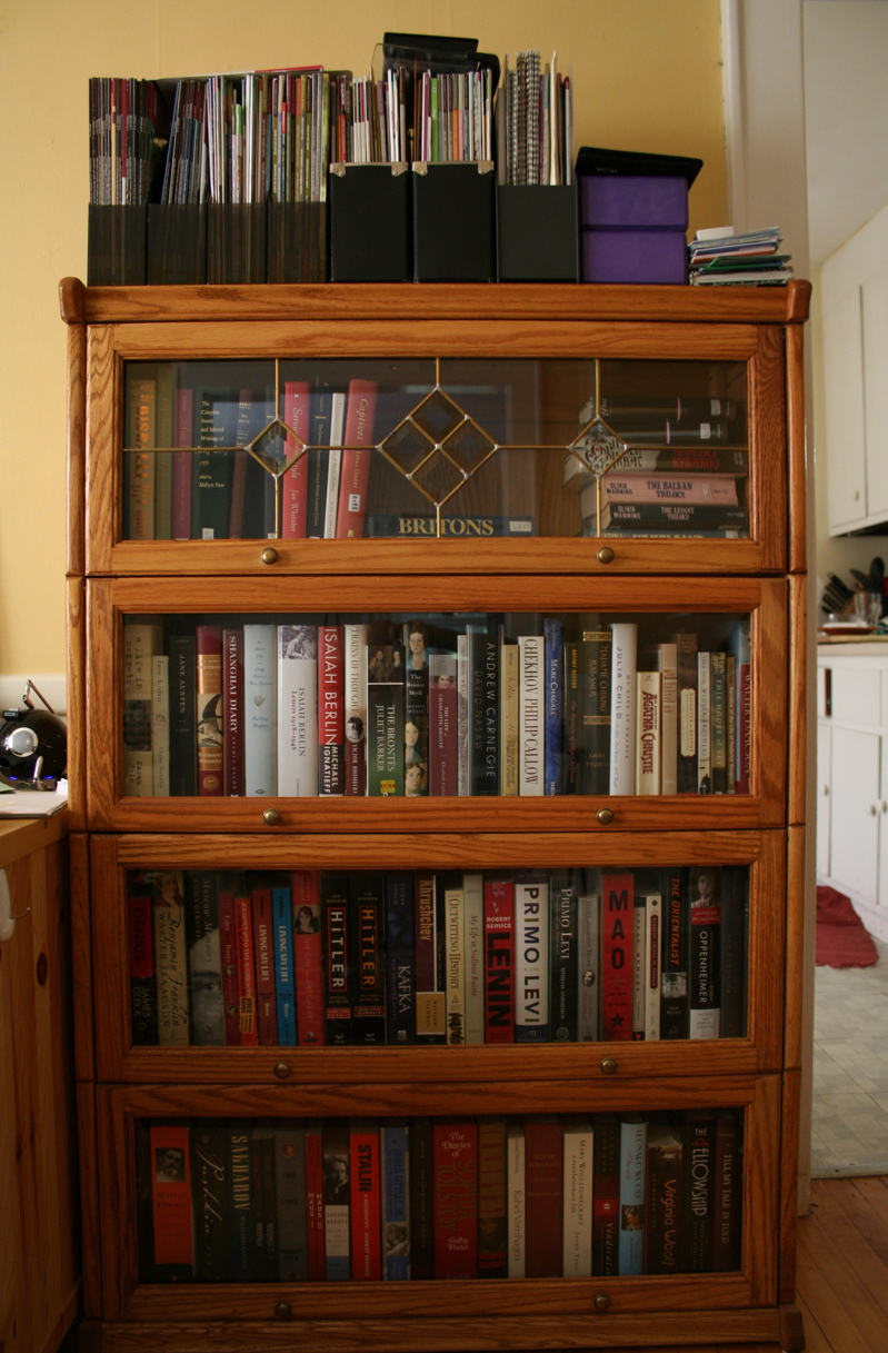 bookcases with glass doors for ... VTEBEUM