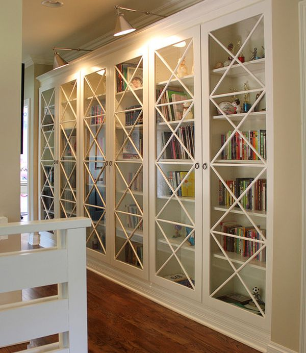 bookcases with glass doors view in gallery x motif custom designed glass doors give these bookcases an RLFXGAT