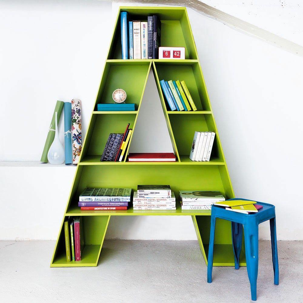 bookshelf ideas 2. the letter has it OEHYCRW