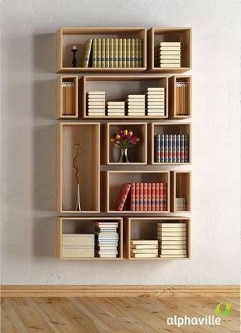 bookshelf ideas 45 diy bookshelves: home project ideas that work shadow boxes on a wall DXGIQDG