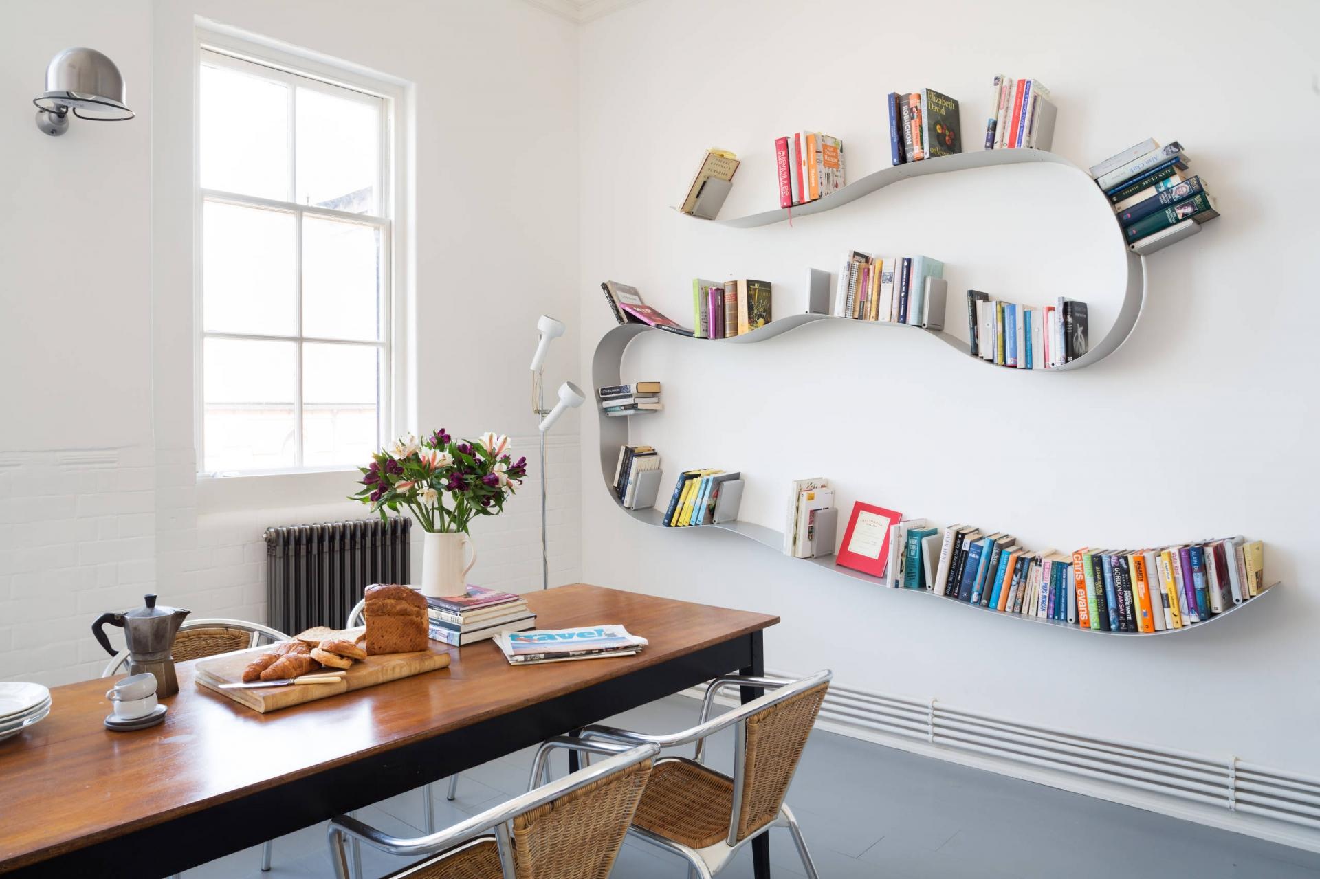 bookshelf ideas 6. set on a curve JGMACUO