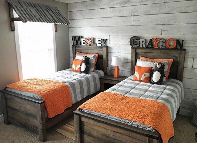 boys bedroom @coastalcraftymama built our rustic window awnings for her boysu0027 room XOZAPCN