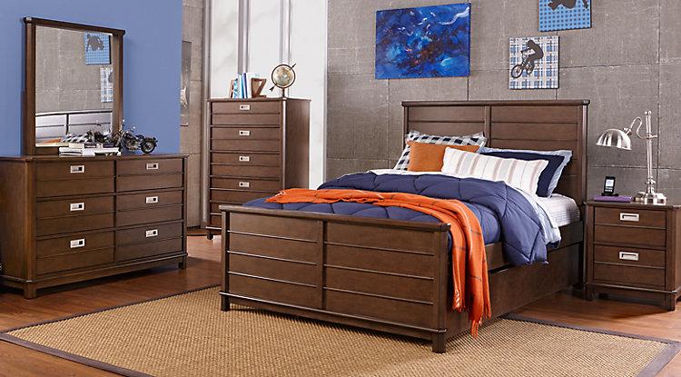 boys bedroom sets bay street brown 5 pc twin panel bedroom CPQXJFT