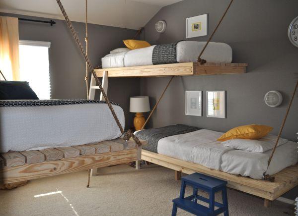 boys room decor creative boysu0027 room decor with hanging beds TGKSHXX