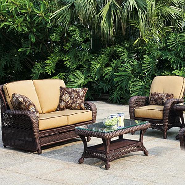 breathe wicker sofa today most wicker patio furniture ... PAUORTO