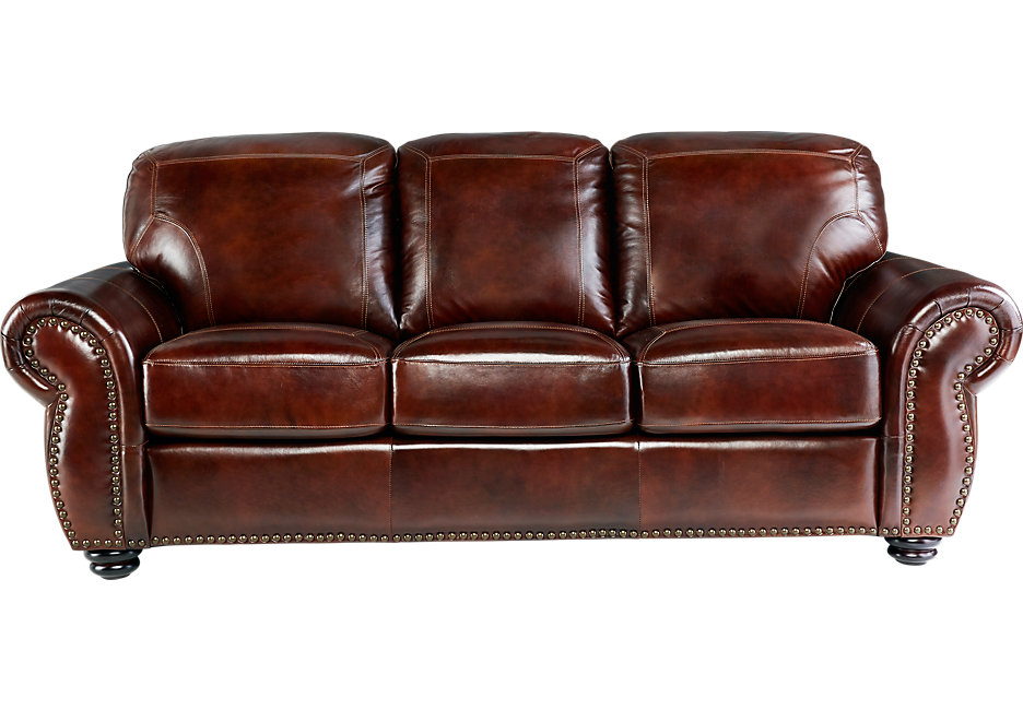 brockett brown leather sofa PEPCLZQ