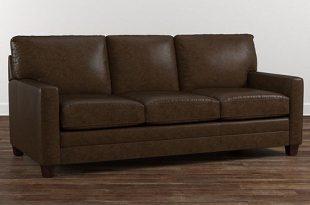 brown leather sofa american casual ladson sofa TKNQLHZ