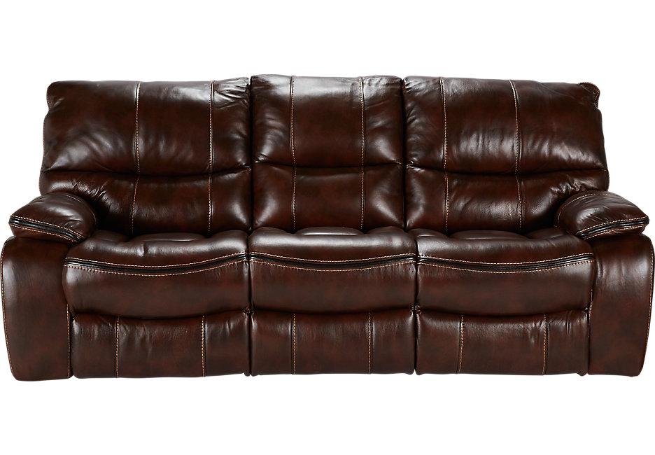 brown leather sofa cindy crawford home gianna brown leather reclining sofa - leather sofas ( brown) HUBBORI