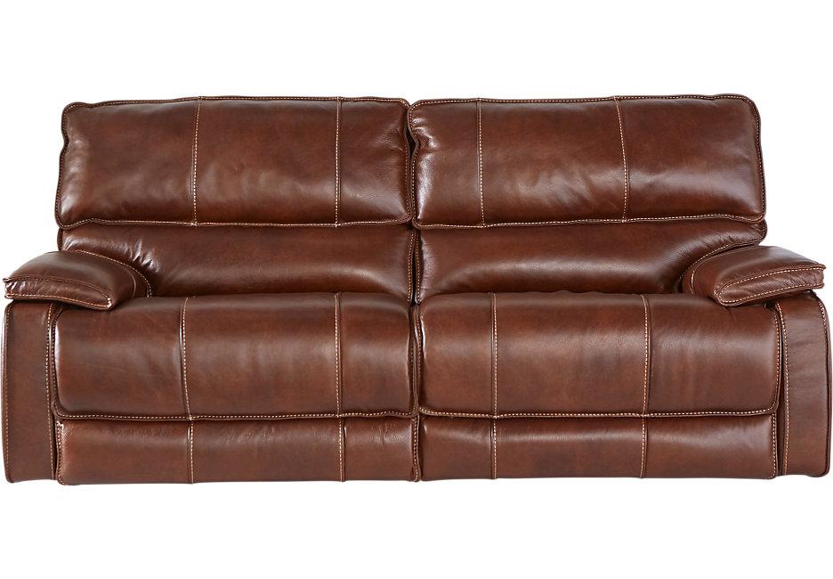 brown leather sofa cindy crawford home san michele brown leather reclining sofa DQQFTGV