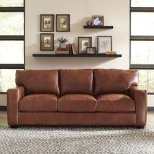 brown leather sofa pratt leather sofa TPPFBHQ