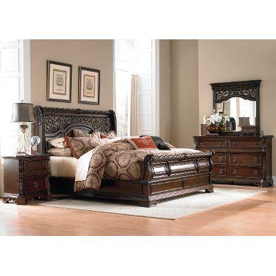 brownstone 6-piece queen bedroom set - arbor place DLKLEQL