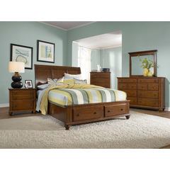broyhill bedroom furniture hayden place sleigh storage bedroom set in cherry, broyhill, hayden place  collection CCZBDKS