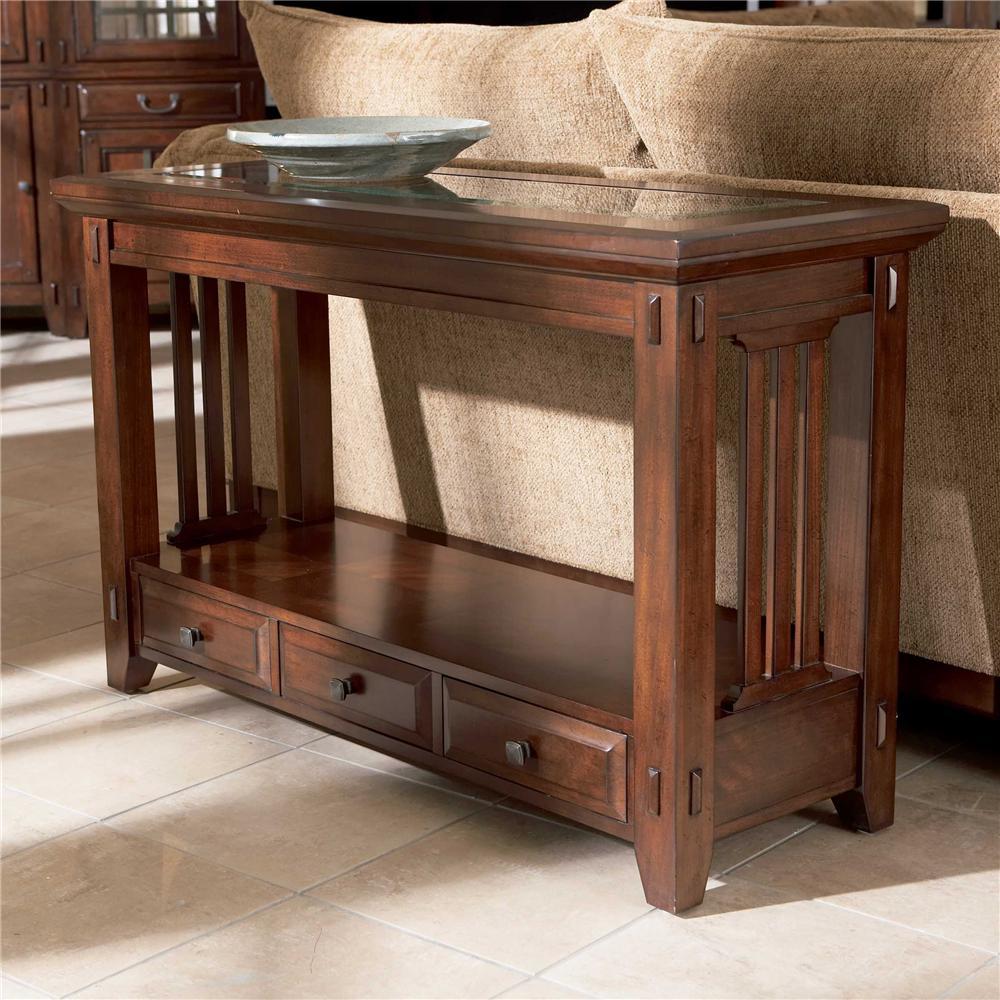broyhill furniture vantana three drawer sofa table - item number: 4985-009 VXPKRCW