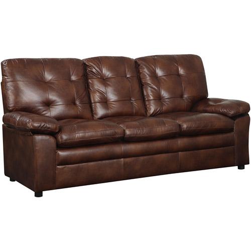 buchannan faux leather sofa - walmart.com HUCCDHQ