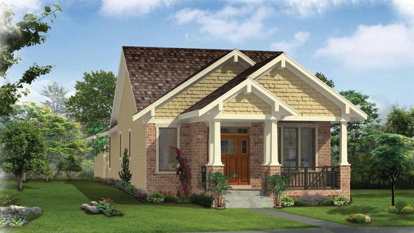 bungalow designs 2 bedroom craftsman bungalow home plan homepw76613 TYYJWNK
