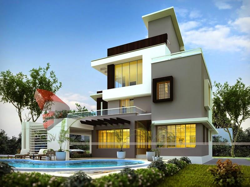 bungalow designs ultra modern home designs: house 3d interior exterior design rendering YHJSNZQ