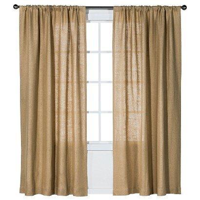 burlap curtains artofabric natural burlap curtain 59 inches x 63 inches XRJAQZK