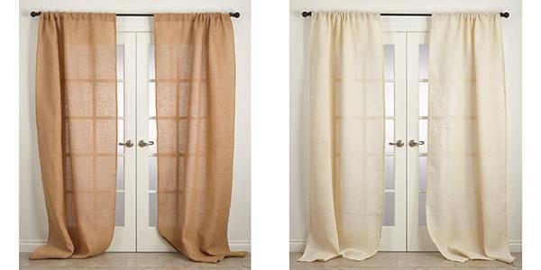burlap curtains curtains u0026 drapes NQEFMKR