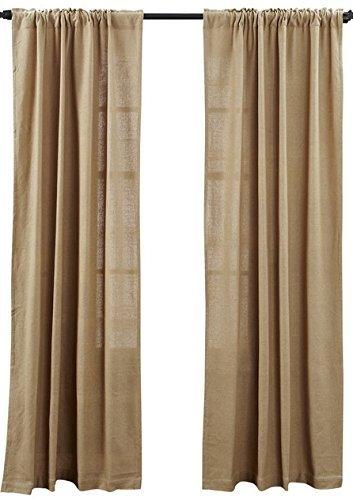 burlap curtains deluxe burlap natural tan panel curtain KSGXBID