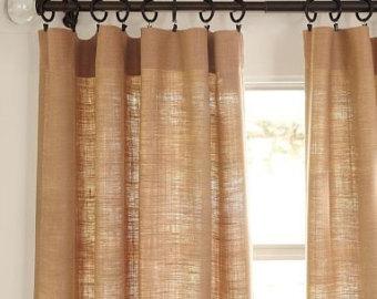 burlap curtains, livingroom curtains.upscale burlap curtains KHDMHIX