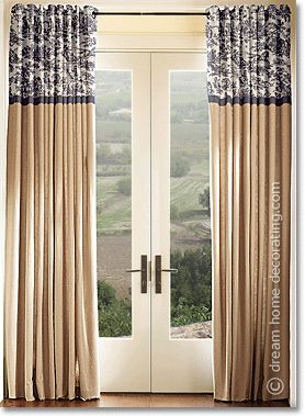 burlap curtains pattern at top of panel, would look great in my bedroom.there will be. GGLAGCF