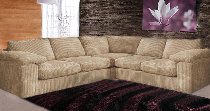 camden fabric corner sofa collection large: mink DCSTFAE
