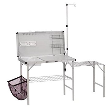camping kitchen coleman pack-away deluxe kitchen VTQORJC