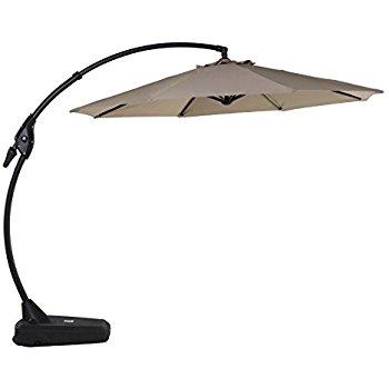 cantilever umbrella grand patio deluxe 10 ft curvy aluminum offset umbrella with handle and KISDHEJ