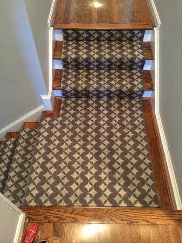 carpet runners typically have a non-slip backing that will also provide  traction JQEPCUX