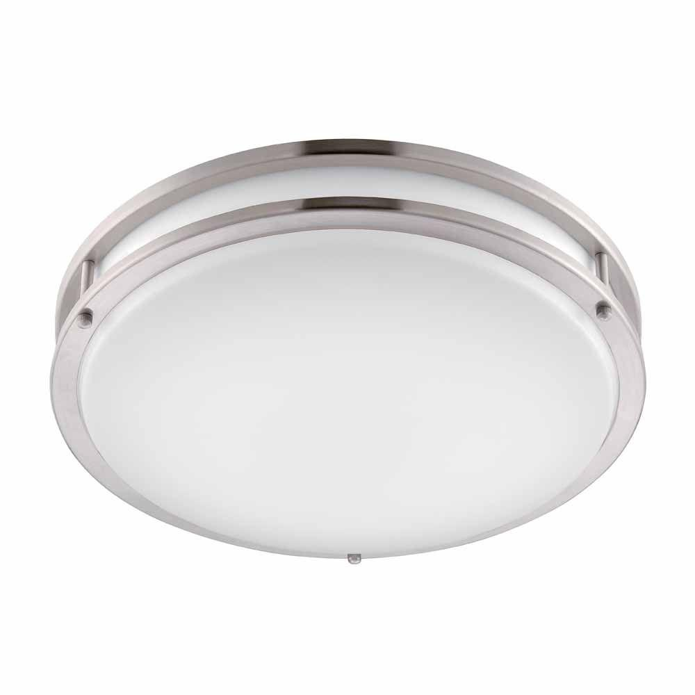 ceiling lights brushed nickel led round flushmount VTXHDRU