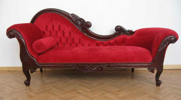 chaise lounge sofa chaise longue sofa classic furniture red SEPTETP