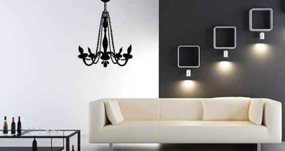 chandelier vinyl wall art WJAPUIQ