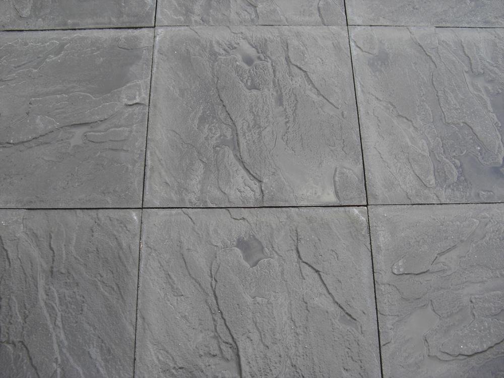 cheap paving slabs - riven - black - 450 x 450mm PLOUCJW