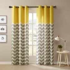 chevron curtains alex chevron semi-sheer curtain panels (set of 2) YACRBGF