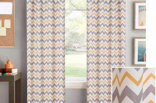 chevron curtains better homes and gardens chevron curtain panel - walmart.com XCZPJTO