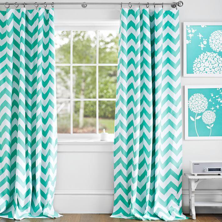 chevron curtains chevron blackout drape | pbteen YCTMZHN