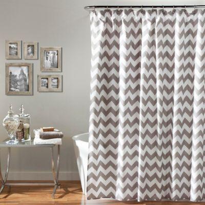 chevron curtains chevron shower curtain in grey/white QOQPMKI