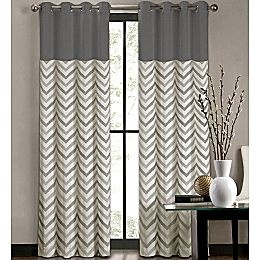 chevron curtains chevron window coverings...would be pretty in the front room, in brown QQBOQHD
